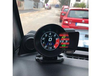 Palubní DISPLEJ SPORT LCD, OBDII, FULL + GPS - se164gps