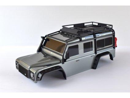 Traxxas karosérie Land Rover Defender stříbrná: TRX-4 TRA8011SLV