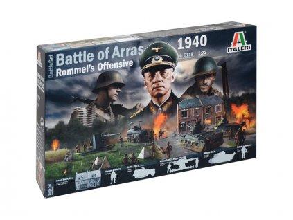 Italeri diorama bitva o Arras 1940 - Rommelův útok (1:72) - IT-6118