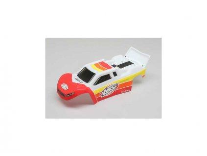 Losi karosérie červená/bílá: Mini-T 2.0 BL - LOS210017