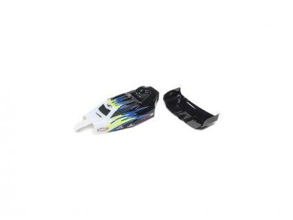 Losi karosérie, křídlo černá/bílá: Mini-B - LOS210020