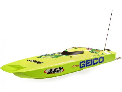 Proboat Miss GEICO Zelos 36 Twin Brushless Catamaran RTR - PRB08040