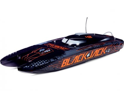 "Proboat Blackjack 42"" 8S Catamaran RTR bílý/červený - PRB08043T2"