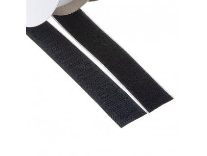 Suchý zip samolepící, smyčky + háčky 20mm x 25m - W31120