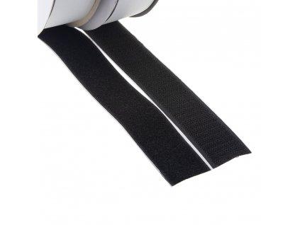 Suchý zip samolepící, smyčky + háčky 30mm x 25m - W31130