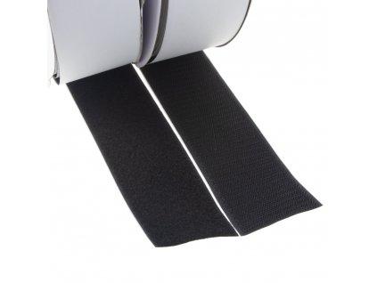 Suchý zip samolepící, smyčky + háčky 50mm x 25m - W31150
