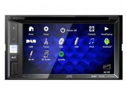"""JVC 2DIN autorádio FM / DAB+ / DMB / CD / DVD / USB / AUX, Bluetooth s 6,8"""" displej - KW-V255DBT"""