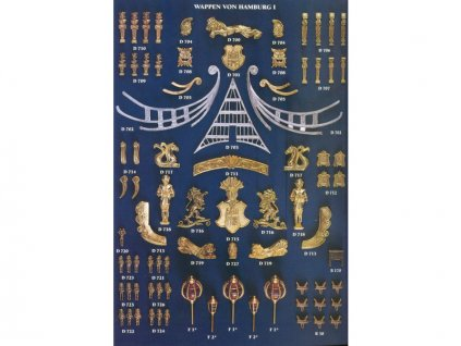 COREL Sada odlévaných dílů Wappen von Hamburg - KR-62428