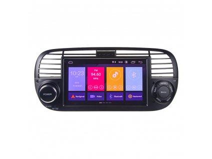 "Autorádio pro Fiat 500 s 7"" LCD, Android 10.0, WI-FI, GPS, Mirror link, Bluetooth, 2x USB - 80812A"