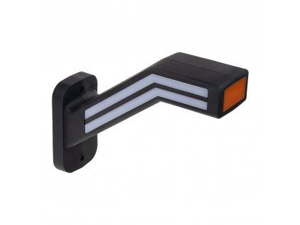 Poziční LED (tykadlo) gumové levé - červeno/bílo/oranžové, 12-24V,ECE - trl190L