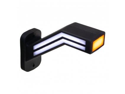 Poziční LED (tykadlo) gumové levé - červeno/bílo/oranžové, 12-24V,ECE - trl191L