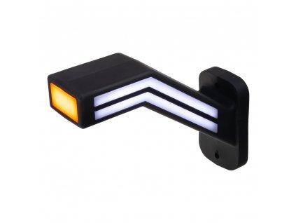Poziční LED (tykadlo) gumové pravé - červeno/bílo/oranžové, 12-24V,ECE - trl191R