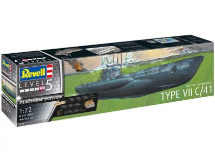 Revell ponorka Typ VII C/41 (Platinum Edition) (1:72) - RVL05163