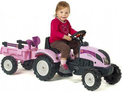 FALK - Šlapací traktor Princess s vlečkou - FA-2056C