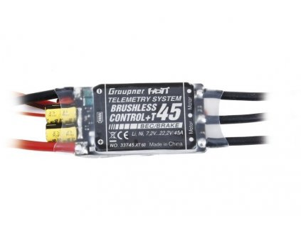 Brushless control + Telemetrie 45 G3,5 s XT60 konektorem - 33745NXT60