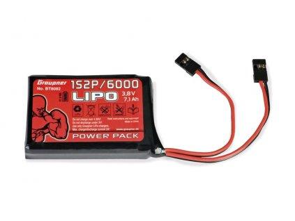 Vysílačový pack, LiPo 1S2P/6000 3,8V TX, 27Wh - BT8082