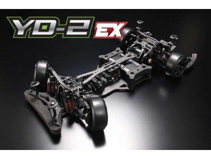 Yokomo YD-2 EX RWD 1:10 Kit driftovacího podvozku (Matné grafitové šasí) - DP-YD2EX