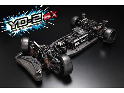 Yokomo YD-2SX RWD 1:10 Kit driftovacího podvozku (grafitové šasí) - DP-YD2SX