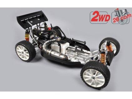 FG Leopard 2020 Competition Buggy, 2WD, čirá karoserie + centrální hydr. brzda - FG670000