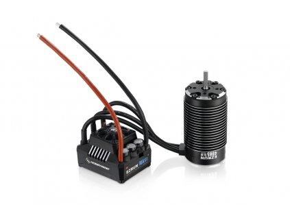 COMBO MAX6 s EZRUN 4985 1650Kv - černý - HW38010801