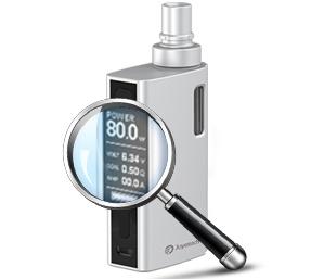 Nastavení napětí a výkonu e-cigarety