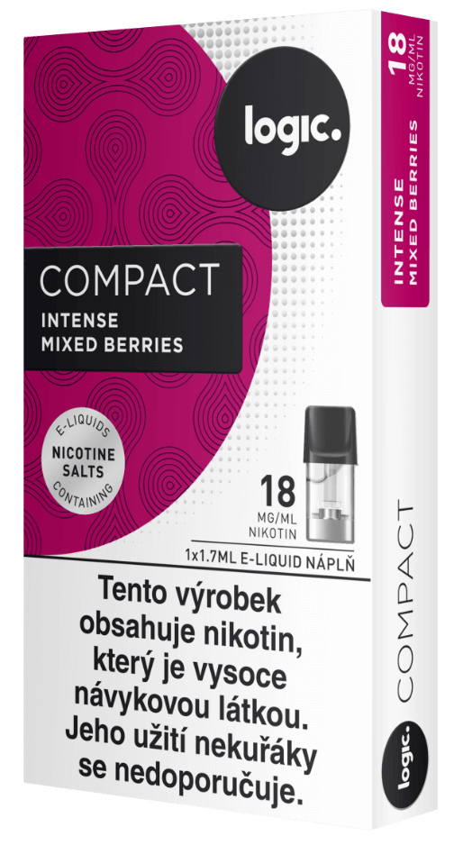 Nápln do ecigarety JTI Logic Compact - Logic Vapes Intense Berries - Lesní ovoce