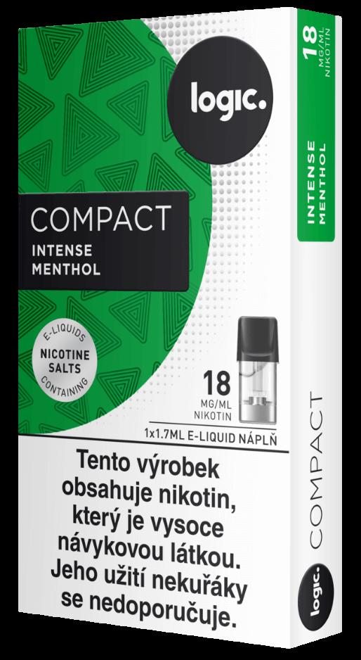Nápln do ecigarety JTI Logic Compact - Logic Vapes Intense Menthol - Mentol