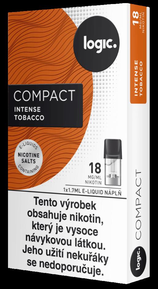Nápln do ecigarety JTI Logic Compact - Logic Vapes Intense Tobacco - Tabák