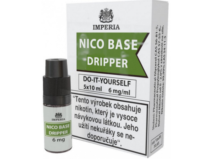 nikotinova baze imperia dripper 5x10ml pg30vg70 6mg
