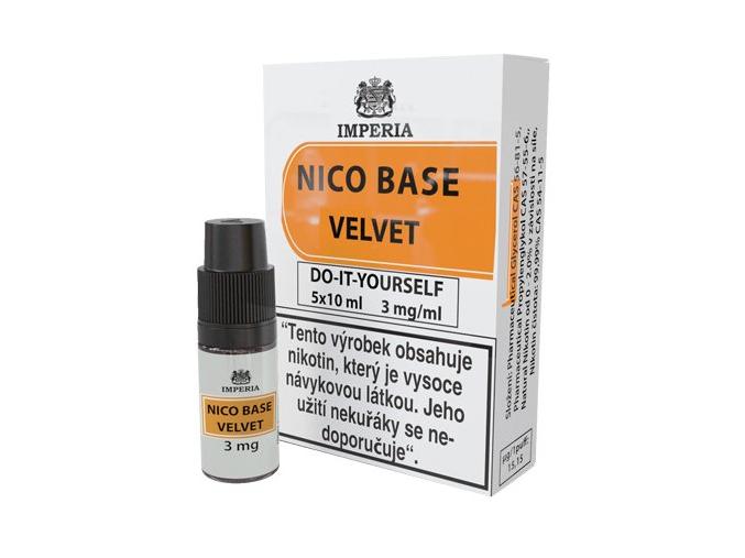 nikotinova baze imperia velvet 5x10ml pg20vg80 3mg