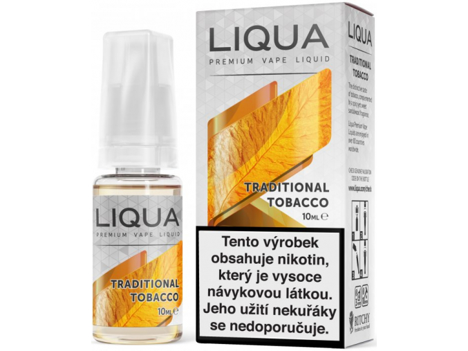 liquid liqua cz elements traditional tobacco 10ml12mg tradicni tabak