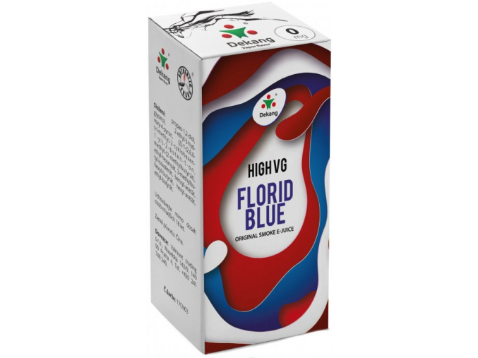 liquid dekang high vg florid blue 10ml 0mg ledove boruvky