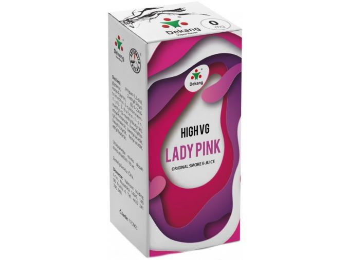 liquid dekang high vg lady pink 10ml 0mg boruvka s broskvi