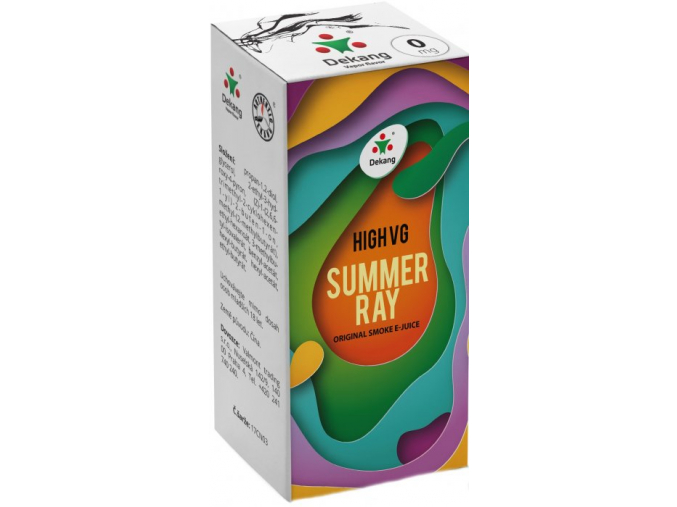 liquid dekang high vg summer ray 10ml 0mg ovocna smes