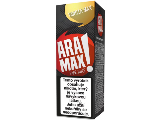 liquid aramax vanilla max 10ml12mg