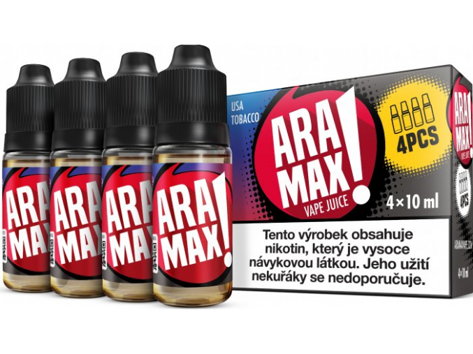 liquid aramax 4pack usa tobacco 4x10ml3mg