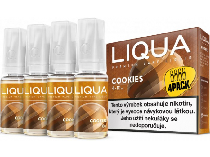 liquid liqua cz elements 4pack cookies 4x10ml3mg susenka