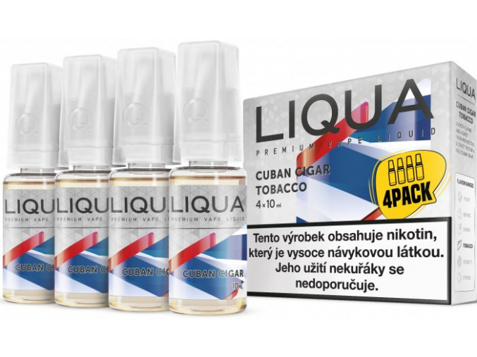 liquid liqua cz elements 4pack cuban cigar tobacco 4x10ml3mg kubansky doutnik