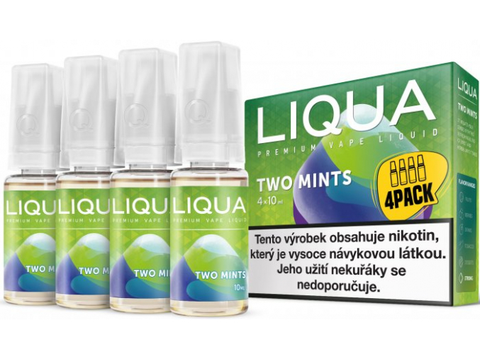 liquid liqua cz elements 4pack two mints 4x10ml12mg chut maty a mentolu