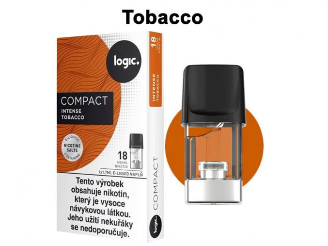 Intense Cartridge náplň JTI LOGIC Compact tobacco 1,7ml 18mg