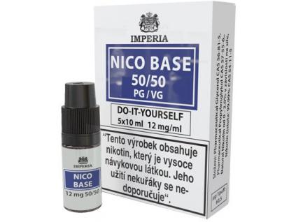 nikotinova baze imperia 5x10ml pg50vg50 12mg