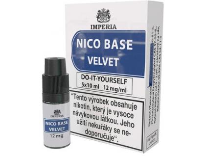 nikotinova baze imperia velvet 5x10ml pg20vg80 12mg