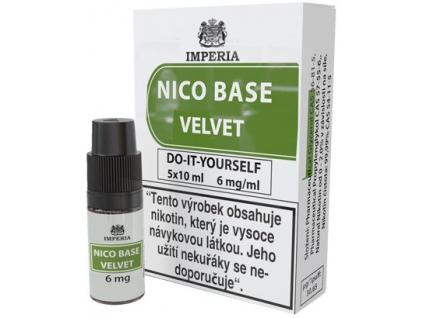 nikotinova baze imperia velvet 5x10ml pg20vg80 6mg