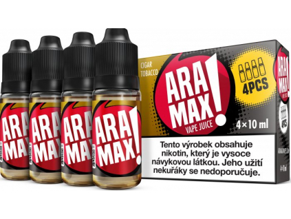 liquid aramax 4pack cigar tobacco 4x10ml3mg