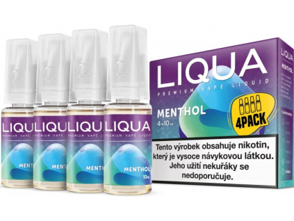 liquid liqua cz elements 4pack menthol 4x10ml12mg mentol
