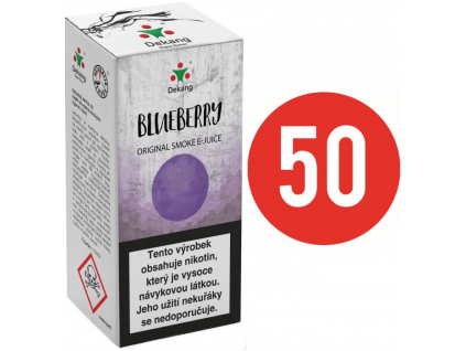 liquid dekang fifty blueberry 10ml 11mg boruvka