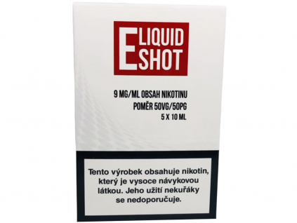 E-Liquid Shot Booster (50/50) 5 x 10 ml / 9 mg