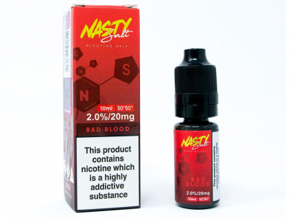 náplň e liquid s nikotinovou solí nasty Juice bad blood 20mg 10ml