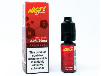 náplň e liquid s nikotinovou solí nasty Juice bad blood 20mg 10ml