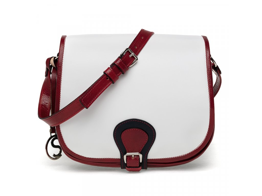 Klopnová lovecká kožená taška Silvercase - trikolora